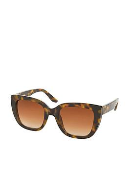 Accessorize Accessorize Sarah Square Cateye Sunglasses - Tortoiseshell Picture