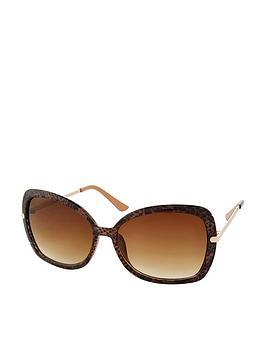 Accessorize Accessorize Sophie Metal Detail Square Sunglasses - Multi Picture
