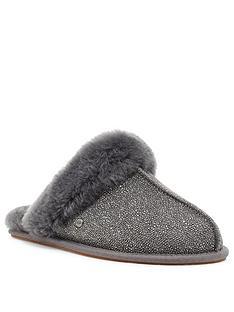 ugg-scuffette-ii-caviar-slipper-dark-grey