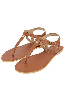 Accessorize   Charm Detail Sandal - Tan