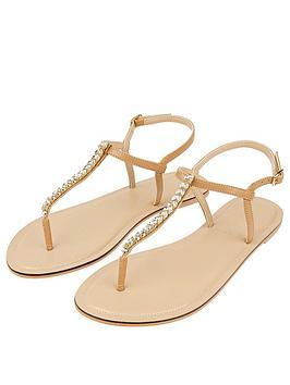 Accessorize   Crystal Sandal - Nude