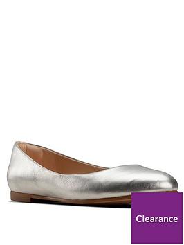 clarks-clarks-grace-piper-metallic-ballerina-silvernbsp