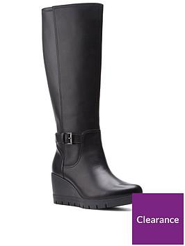 clarks-madera-hi-2-wedge-knee-boot-black