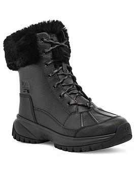 ugg-yose-fluff-calf-boot-black