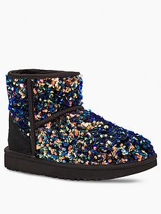 ugg-classic-mini-stellar-sequin-ankle-boots-black