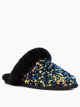 ugg-scuffette-iinbspstellar-sequin-slippers-black
