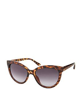 Accessorize   Catriona Glam Cateye Sunglasses - Tortoiseshell