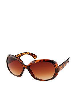 Accessorize Accessorize Wren Wrap Sunglasses - Tortoiseshell Picture