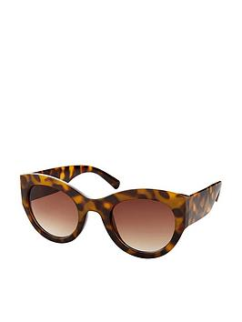 Accessorize   Hamburg Wide Arm Sunglasses - Tortoiseshell