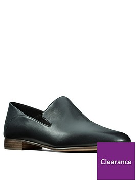 clarks-pure-viola-leather-flat-shoe-black