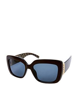 Accessorize Accessorize Stella Metal Detail Square Sunglasses - Brown Picture