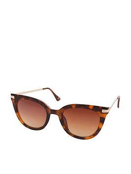 Accessorize Accessorize Caroline Cateye Sunglasses - Tortoiseshell Picture