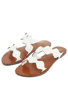 Accessorize Accessorize Scallop Strap Sandal - White Picture
