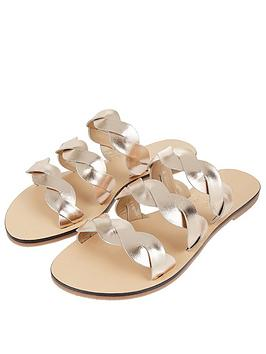 Accessorize Accessorize Twist Triple Strap Sandal - Metallic Picture