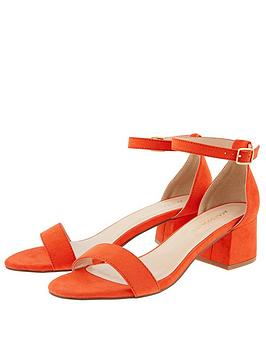 Accessorize   Block Heel Sandal - Orange