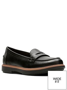 clarks-raisie-eletta-wide-fit-loafer-black