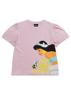 disney-aladdin-girls-disney-jasmine-just-bee-yourself-t-shirt-with-puff-sleeve-purple
