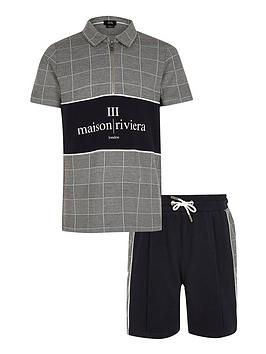 River Island River Island Boys 2 Piece Maison Riviera Polo Shirt And  ... Picture