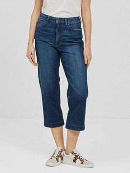 Fat Face Fat Face Salcombe Denim Crops - Mid Wash Picture