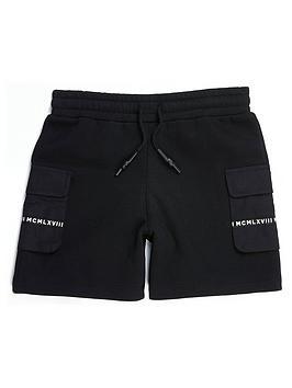 River Island River Island Boys Utility Jog Shorts - Black Picture