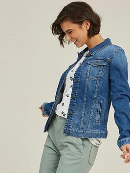 Fat Face Fat Face Tasha Denim Jacket - Vintage Blue Picture