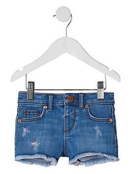 River Island River Island Mini Girls Denim Shorts - Blue Picture