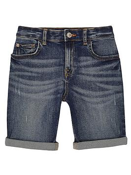 River Island River Island Boys Dylan Denim Shorts - Mid Blue Picture