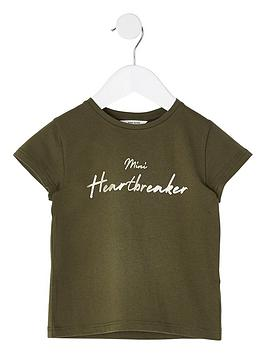 River Island River Island Mini Girls Heartbreaker Short Sleeve T-Shirt -  ... Picture