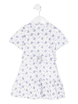 River Island River Island Mini Girls Floral Broderie Skater Dress - White Picture