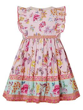 Monsoon Monsoon Baby Girls S.E.W. Paisley Dress - Pink Picture