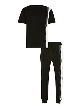 river-island-boys-maison-2-piecenbspt-shirt-and-jog-pants-setnbsp-nbspblack
