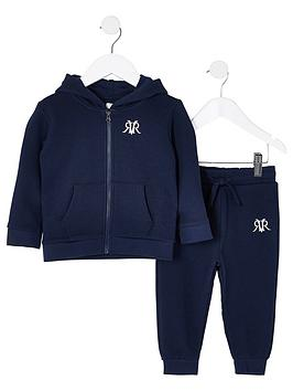 River Island River Island Mini Boys 2 Piece Hoodie And Jog Pants Set - Grey Picture