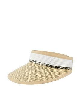 Monsoon Monsoon Lily Lurex Visor Straw Hat - Natural Picture