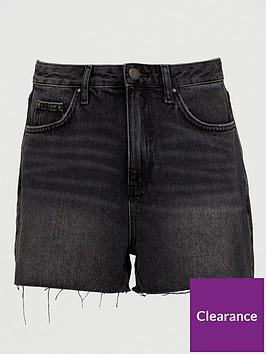 v-by-very-mom-denim-shorts-washed-black