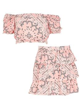 river-island-girls-bandana-print-rara-skirt-and-top-setnbsp-nbsppink