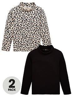 v-by-very-girls-2-pack-leopard-roll-neck-long-sleeve-tops-leopardblack