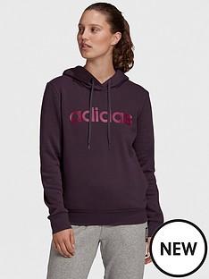 adidas-essentials-linear-pullovernbspfleece-hoodie-purplenbsp