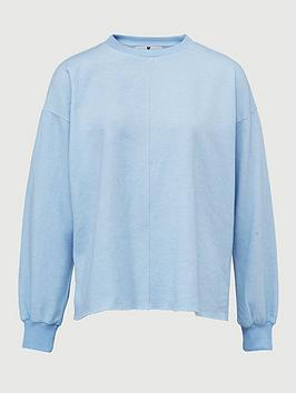 v-by-very-washed-seam-detail-sweat-top-light-blue