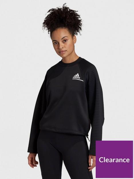 adidas-zne-cold-ready-crew-neck-sweat-top-black