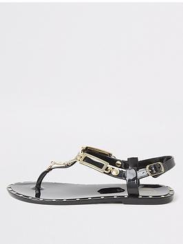 river-island-girls-toe-post-jelly-sandalsnbsp--black