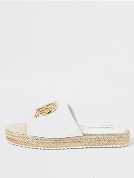 river-island-girls-quilted-mule-sliders-white