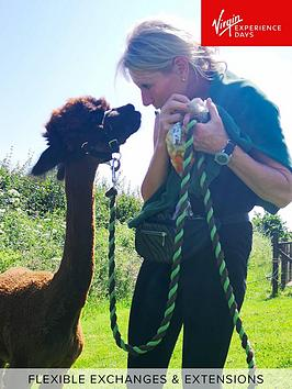 virgin-experience-days-alpaca-trekking-and-entry-to-eagle-heights-wildlife-foundation-in-kent-for-two
