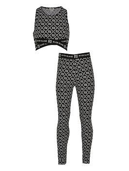 river-island-girls-printed-crop-and-legging-set--nbspblack