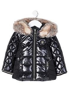 river-island-mini-mini-girls-high-shine-padded-coat-black