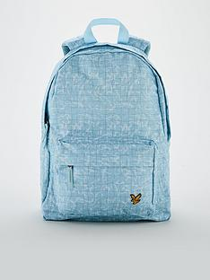 lyle-scott-childrensnbsppool-print-backpack-blue