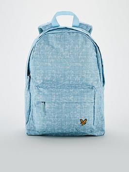 lyle-scott-childrensnbsppool-print-backpack-blue
