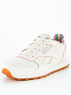 reebok-classic-leather-rainbow-stripe-junior-trainer-ivory