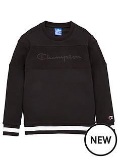 champion-crew-neck-faded-logo-sweatshirt-black