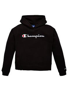 champion-girls-hooded-sweatshirt-black