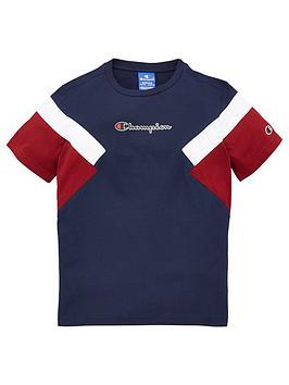 champion-crew-neck-colour-block-t-shirt-navy